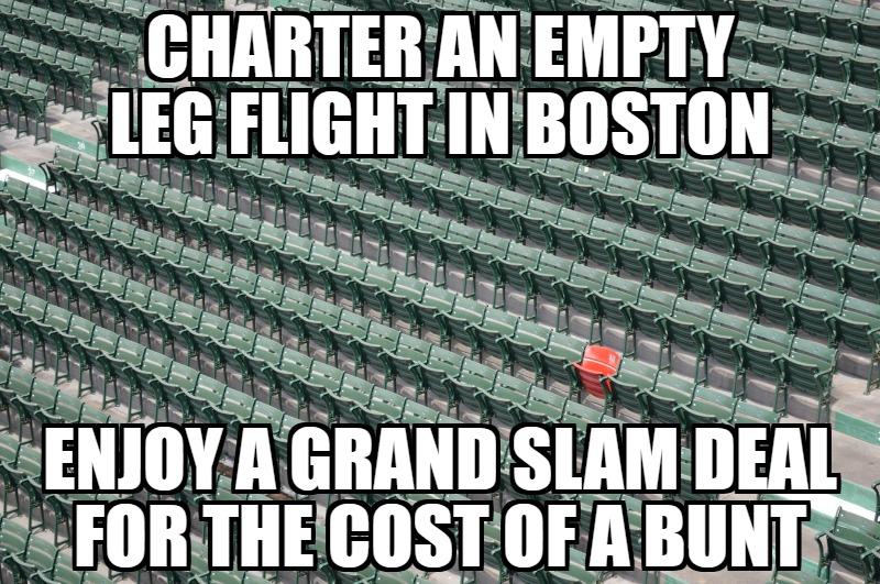 empty leg jets Boston