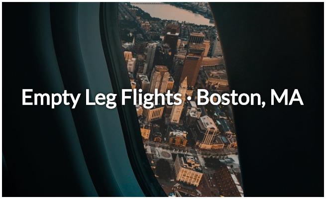 Boston empty leg flights